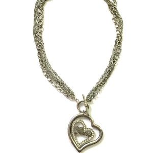 Guess Silver Heart Necklace